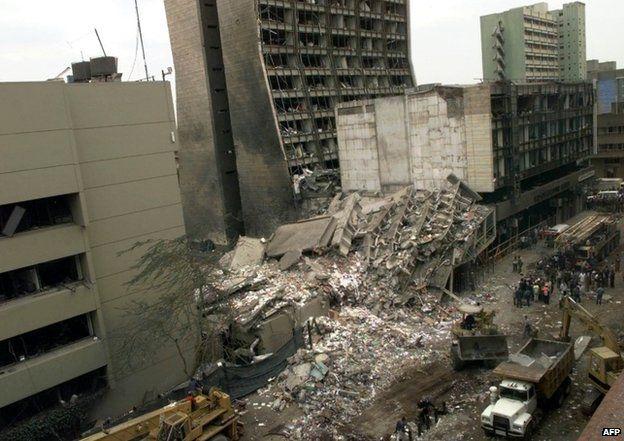 Nairobi embassy bombed in 1998