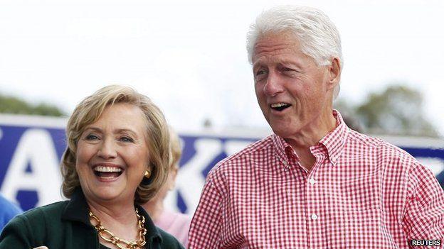 Bill y Hillary Clinton en 2014