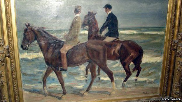 Max Liebermann's Two Riders on the Beach