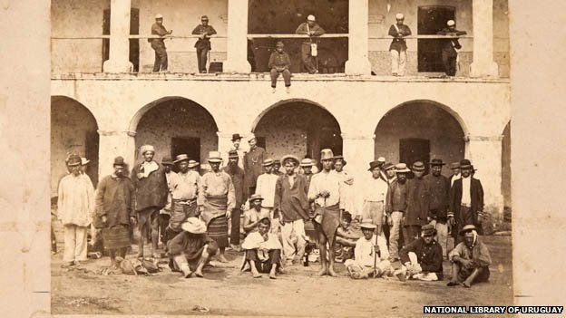 Imagen de prisioneros de guerra paraguayos