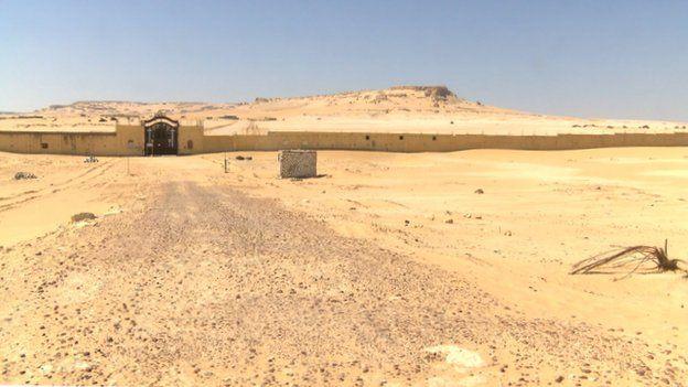 Wall surrounding St Macarius monastery