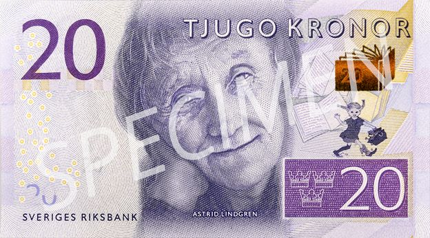 Swedish 20 kronor note