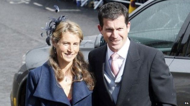 Tim and Lucy Henman arrive at the wedding