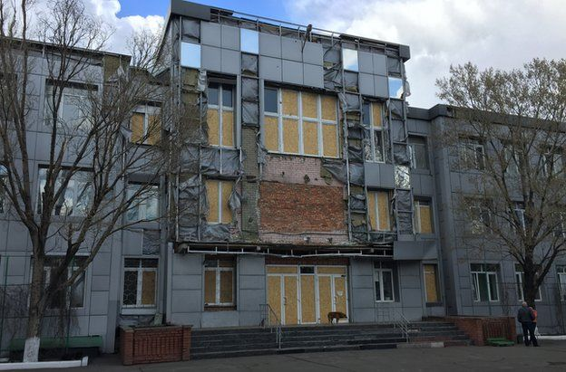 Bomb damaged plant office