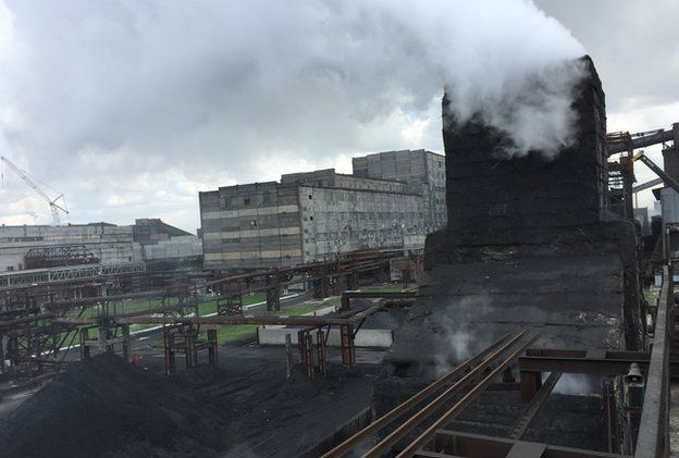 Cooling smoke at coke plant