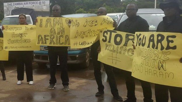 Protest in Lusaka