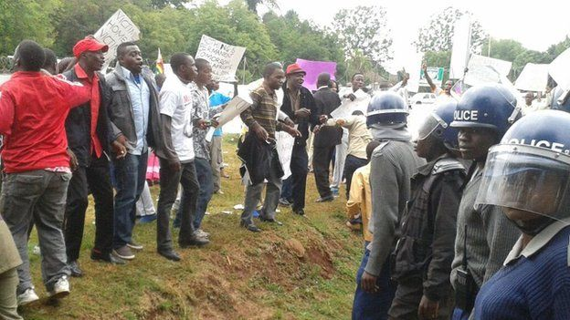 A demonstration in Harare