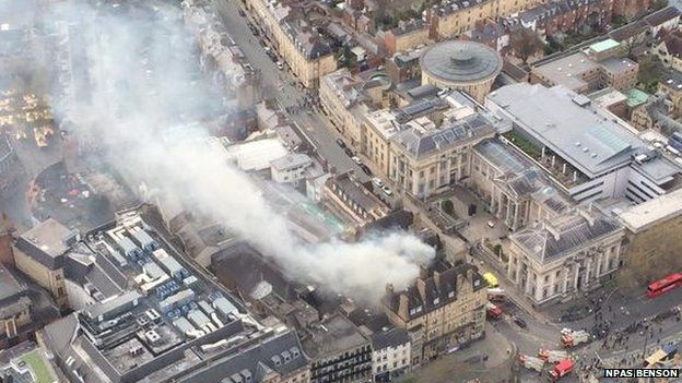 Randolph fire from the air