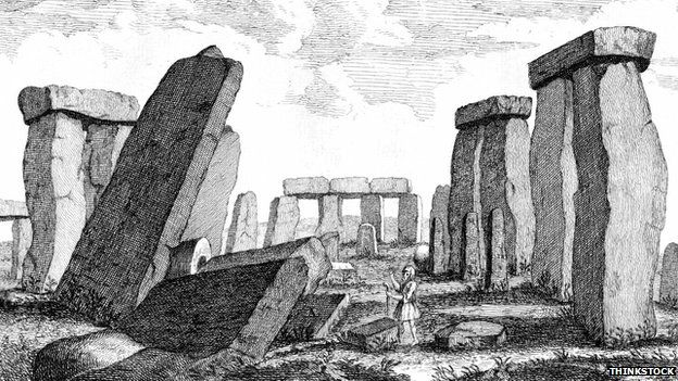 Drawing of Stonehenge prior to 1901