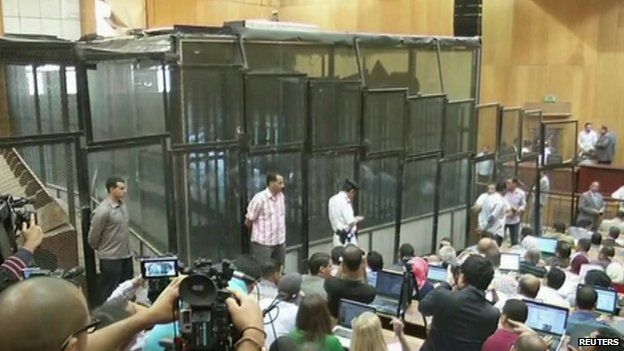 Former Egyptian President Mohammed Morsi and others on trial in Egypt
