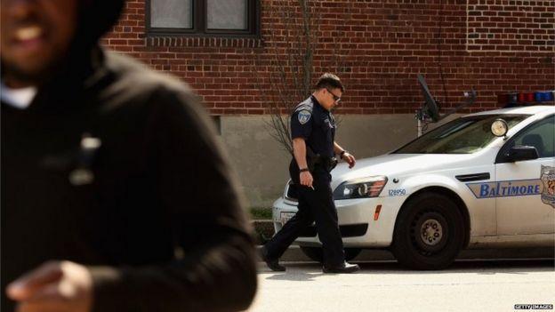 Police officer in Sandtown