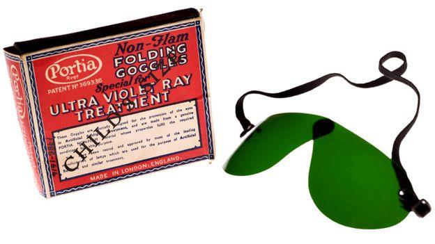 Non-flam folding goggles