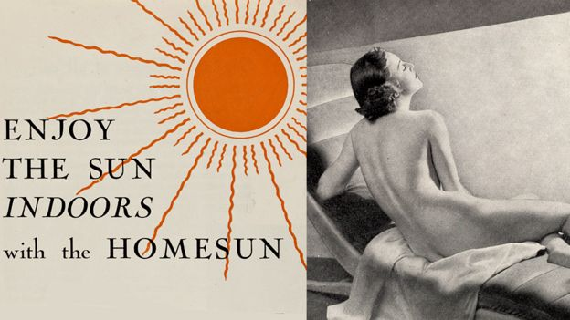 Homesun UV lamp advert, 1937