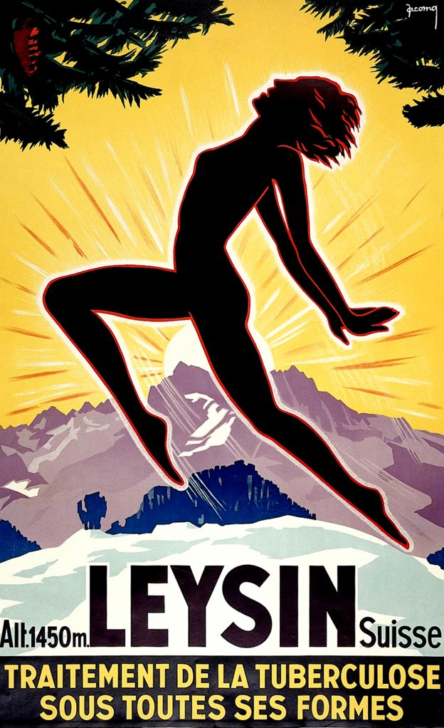 Poster promoting Leysin, Switzerland, circa 1930