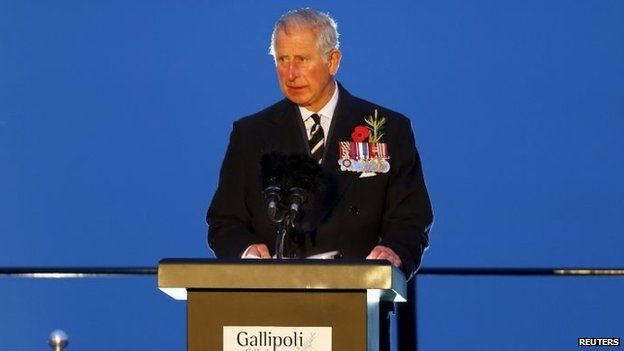 Prince Charles at Gallipoli