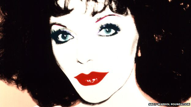 Warhol portrait of Joan Collins