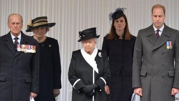 Famiglia Reale al Cenotafio