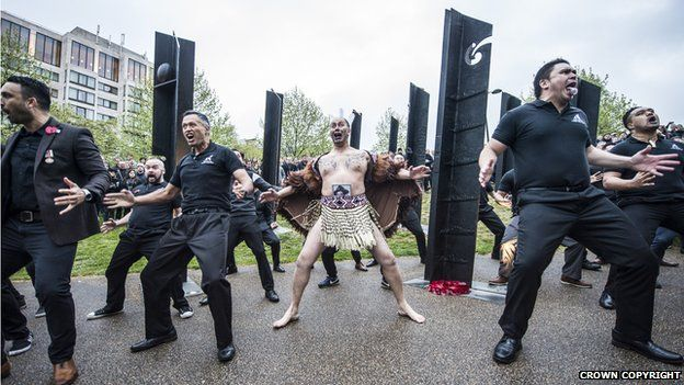 Danzatori maori a Hyde Park Corner