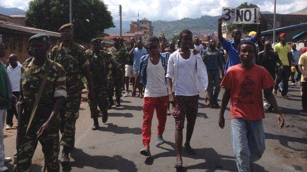 Protest in Bujumbura, 27 April 2015