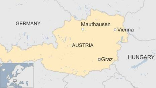 Map of Graz in Austria