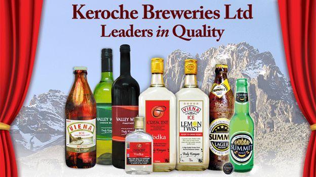 Keroche Breweries' range of products