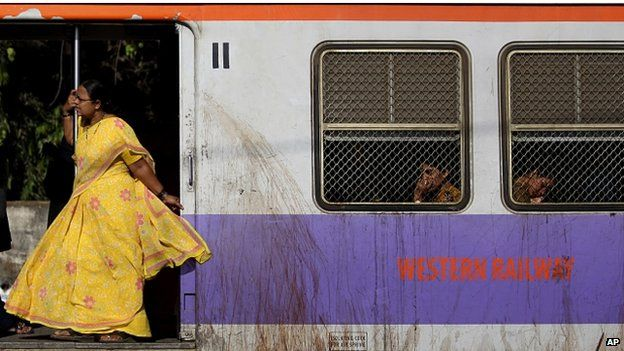 Indian women on a train