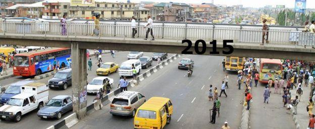 Bridge in Oshodi market, Lagos Nigeria - 2015