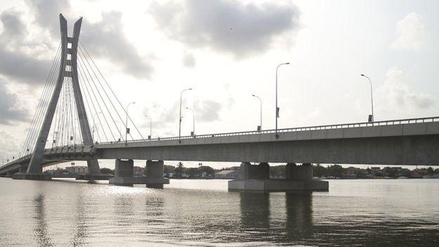 Lekki-Ikoyi bridge in Lagos, Nigeria