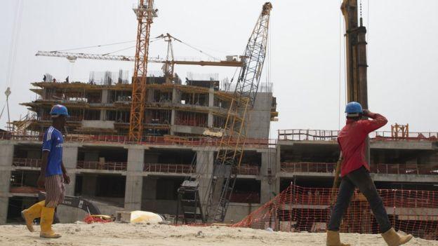 Eko Atlantic City construction site, Lagos, Nigeria