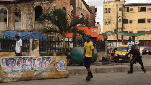 Roller bladders in Campos Square, Lagos, Nigeria