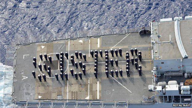 HMS Lancaster tribute