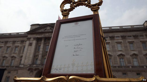 Easel outside palace