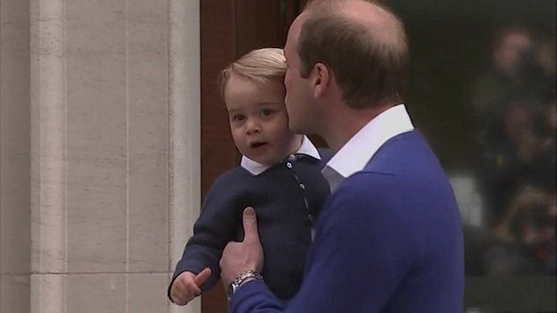 Prince William with his son, Prince George