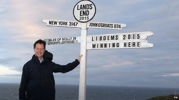 Nick Clegg at Land's End