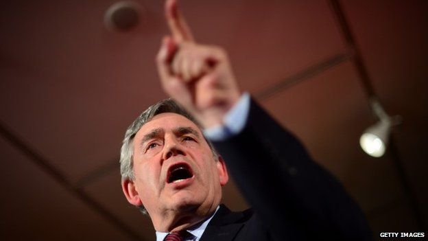 Gordon Brown speaking in Glasgow