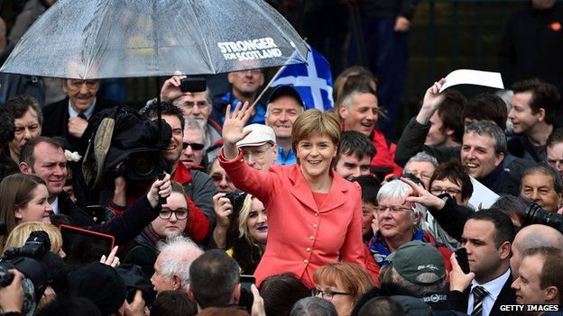 Nicola Sturgeon with supporters