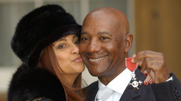 Errol Brown and wife Ginette