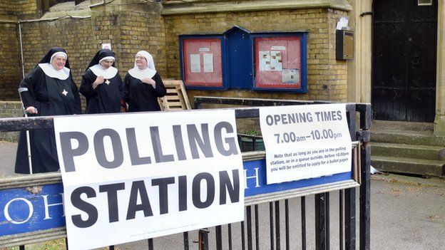 Nuns voting in Hyde Park, London