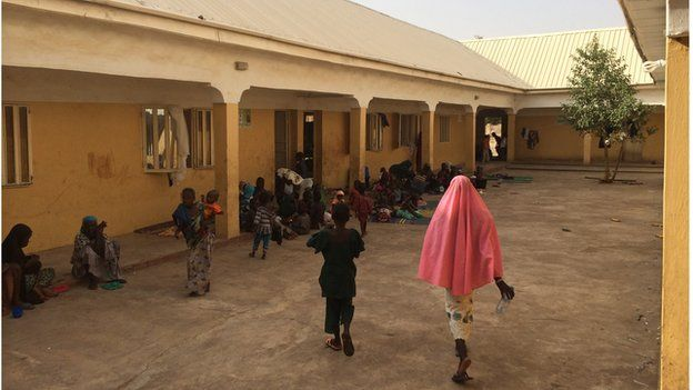 General view of school in Yola, Nigeria, where victims are recovering (May 2015)