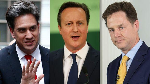 Miliband, Cameron, Clegg