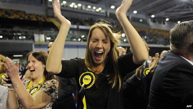 Jubilant SNP supporter