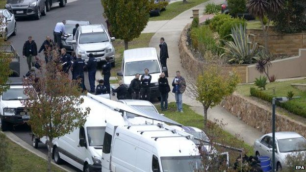 Police raid a home in Greenvale, Melbourne