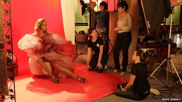 A Nude Agency photo shoot