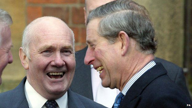 John Reid and Prince Charles at Cherry Knowle Hospital