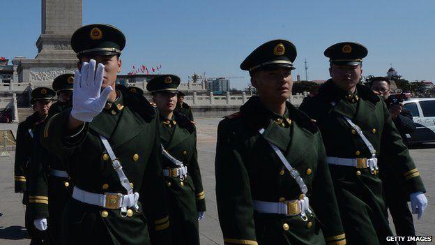 Policemen in Beijing