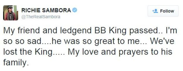 Richie Sambora tweet