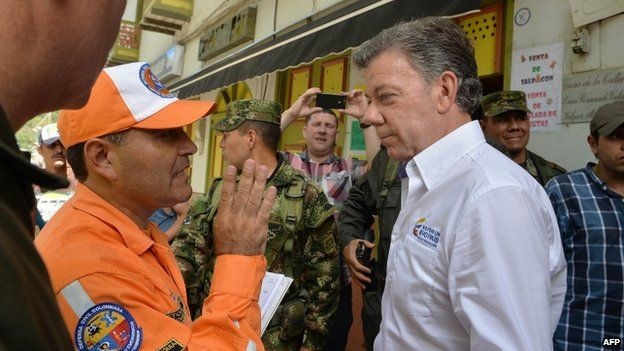 President Santos in Salgar