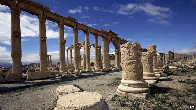 A partial view of the ancient city of Palmyra - 14 March 2014