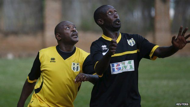 Pierre Nkurunziza playing football