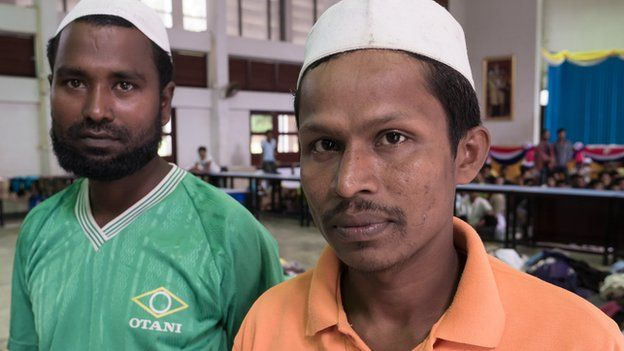 """We don't want to leave our motherland"", said Mohammad (right) - a Rohingya migrant"